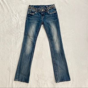 MISS ME Boot Jeans JPW4288-7 Back Pocket Flaps, 28